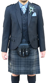 Deluxe Dark Grey Arrochar Crail Jacket - Anderson Kilts