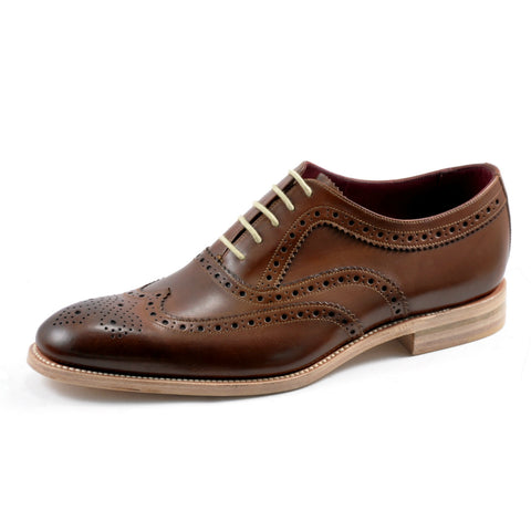 Loake Fearnley Dark Brown Leather Day Brogue