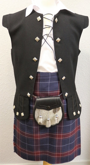Boys Frontier kilt hire outfit with Queen of the South tartan kilt  - Anderson Kilts