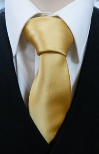 Mens Gold Satin Tie - Anderson Kilts