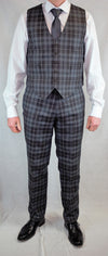 Matching Tartan Set - Waistcoat and Trews Grey Granite