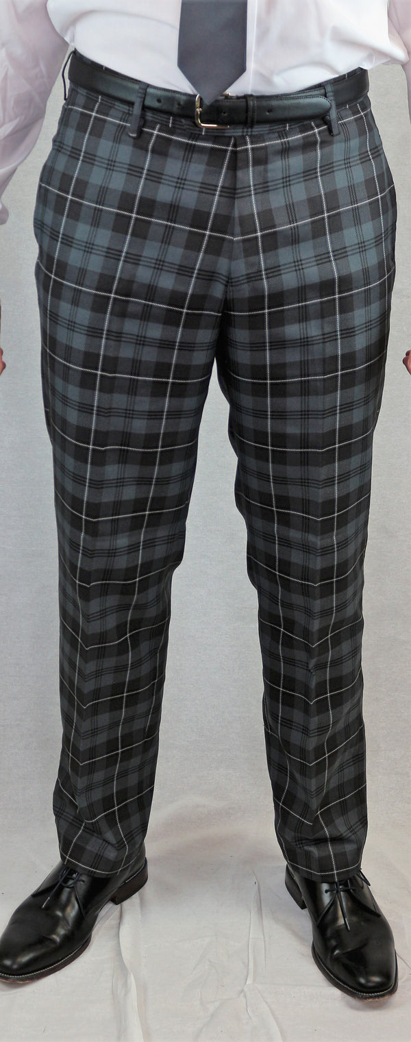Tartan Trews -  Grey Granite - anderson-kilts