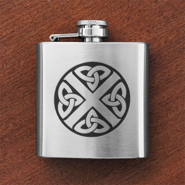 Custom Engraved Silver Flask