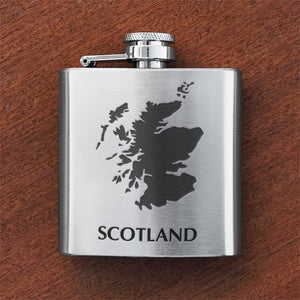 Engraved 6oz Silver Flask - Personal Message - Anderson Kilts