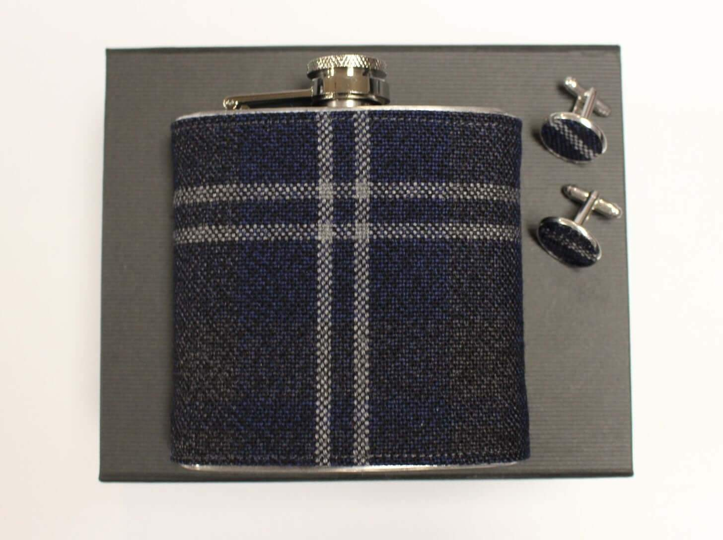 6oz Tartan Hip Flask + Cufflink Set - Anderson Kilts