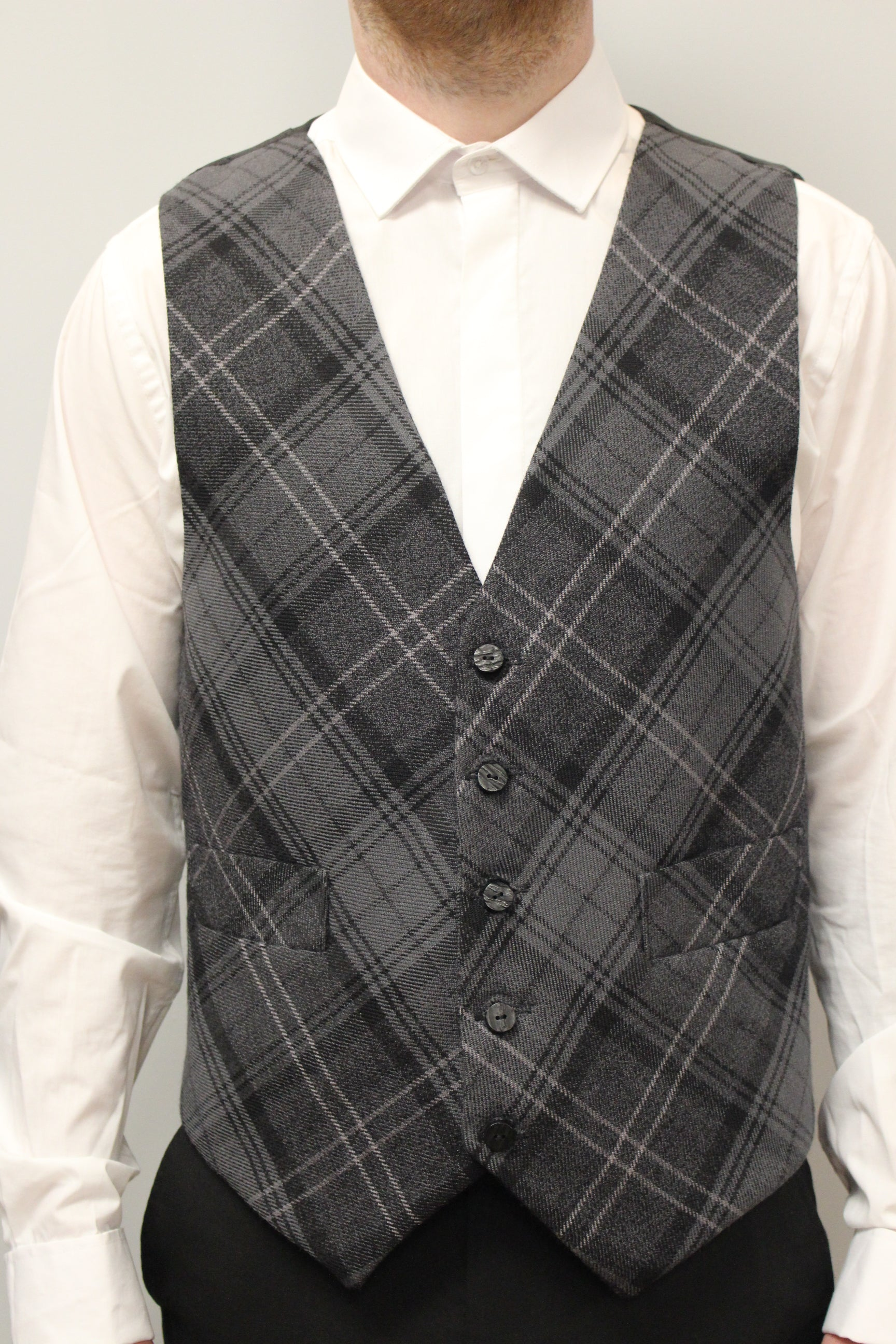 100% wool Tartan Waistcoat - made to measure in choice of tartan - Anderson Kilts