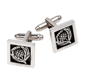 Square Thistle Cufflinks - Anderson Kilts