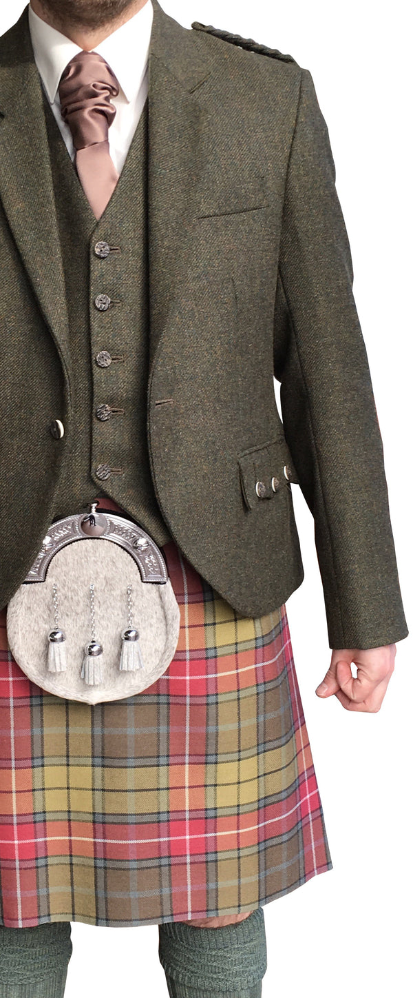 Kirkton Tweed Crail Jacket & Vest - Anderson Kilts