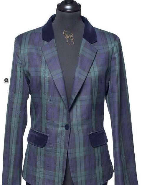 Ladies Tartan Blazer - Black Watch - Anderson Kilts