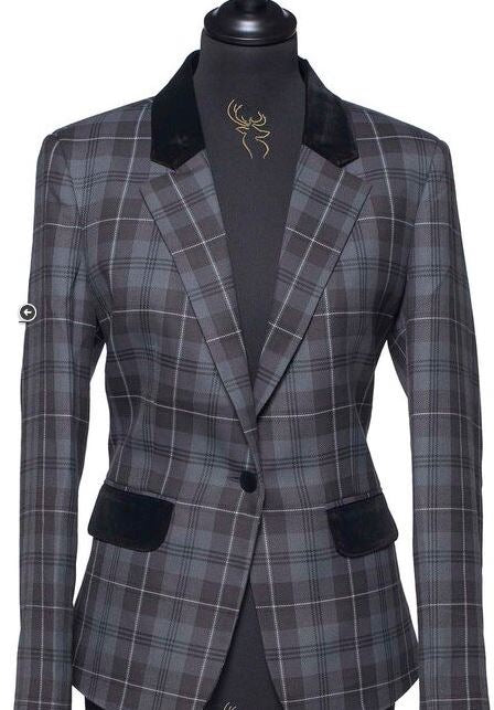 Ladies Tartan Blazer - Grey Granite - Anderson Kilts