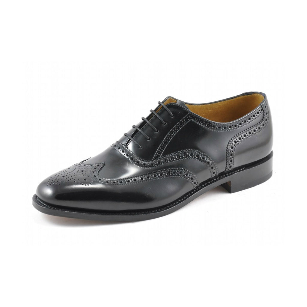 Loake Black Leather Day Brogue - Anderson Kilts