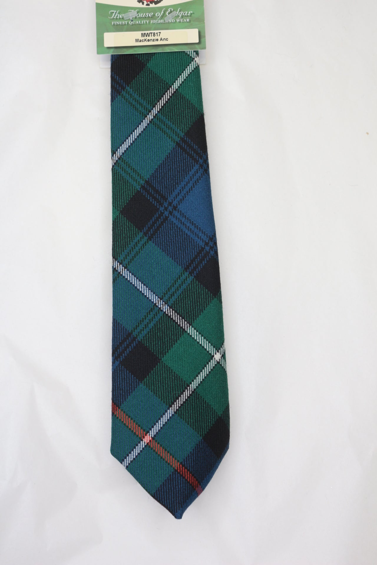 MacKenzie Ancient Tartan Tie - House of Edgar version - Anderson Kilts