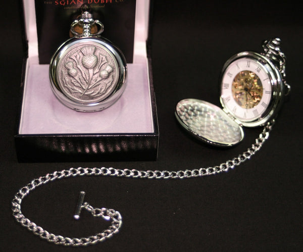 Thistle Mechanical Pocket Watch - PW102M - anderson-kilts