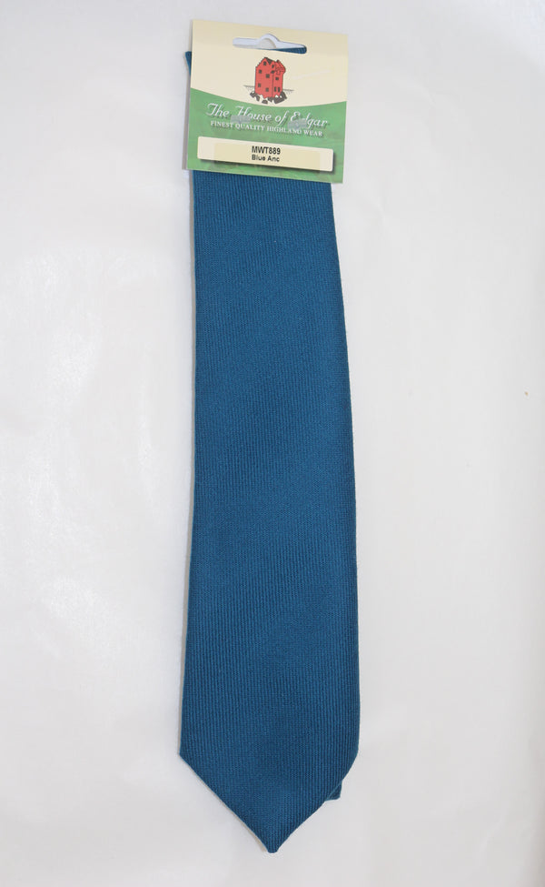 Mens House of Edgar Woollen Tie - Ancient Blue - Anderson Kilts
