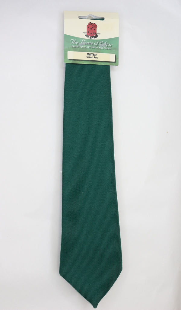 Mens House of Edgar Woollen Tie - Ancient Green - Anderson Kilts