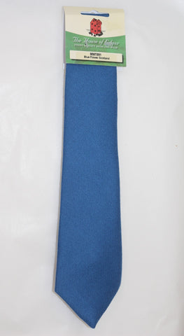 Mens House of Edgar Woollen Tie - Flower of Scotland Blue
