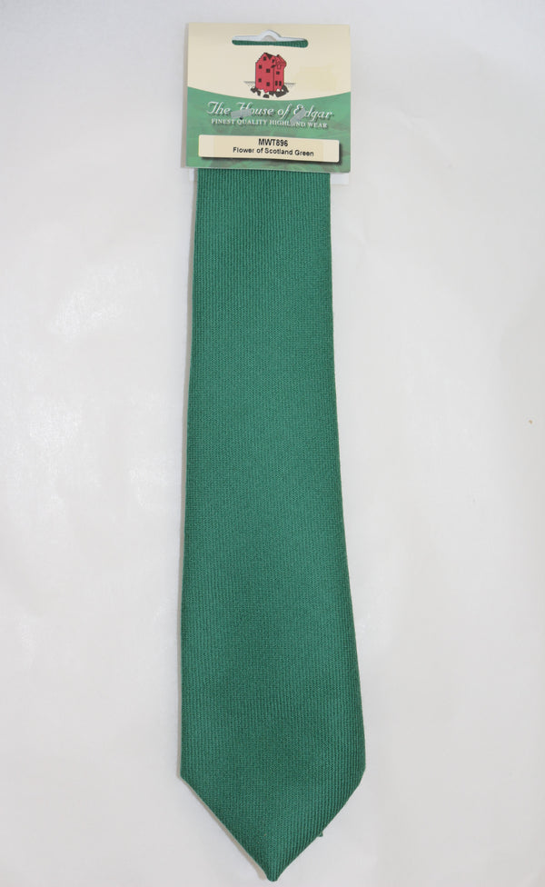 Mens House of Edgar Woollen Tie - Flower of Scotland Green - Anderson Kilts