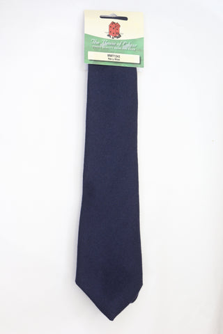Mens House of Edgar Woollen Tie - Navy