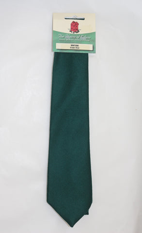 Mens House of Edgar Woollen Tie - Bottle Green