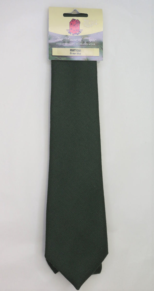 Mens House of Edgar Woollen Tie - Muted Green - Anderson Kilts