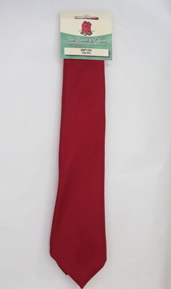 Mens House of Edgar Woollen Tie - Muted Red - Anderson Kilts