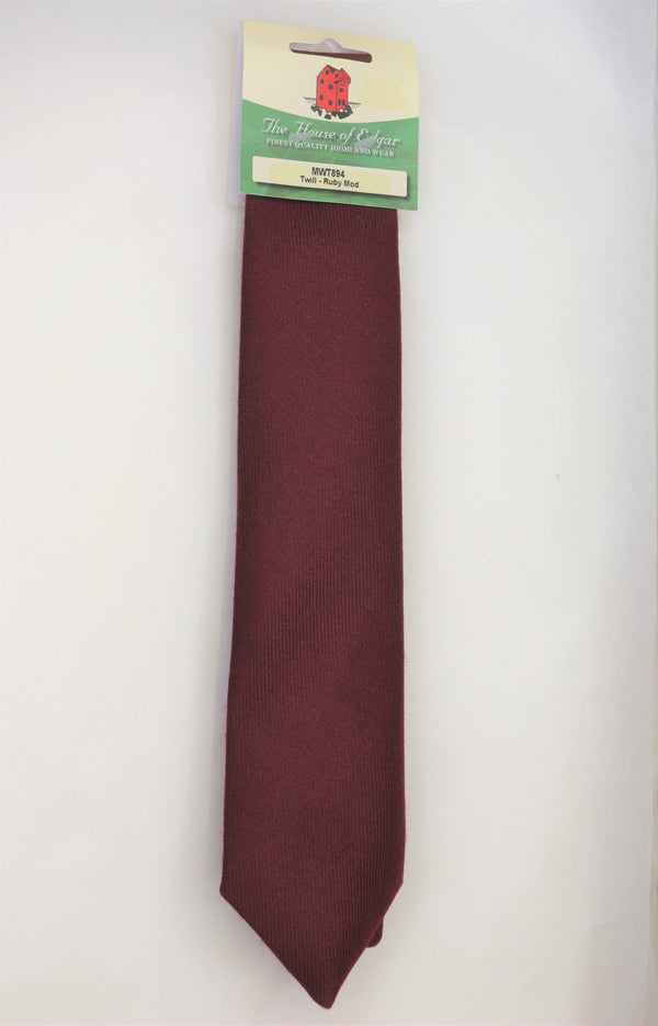 Mens House of Edgar Woollen Tie - Burgundy - Anderson Kilts