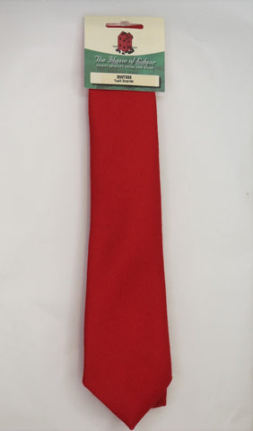Mens House of Edgar Woollen Tie - Scarlet Red