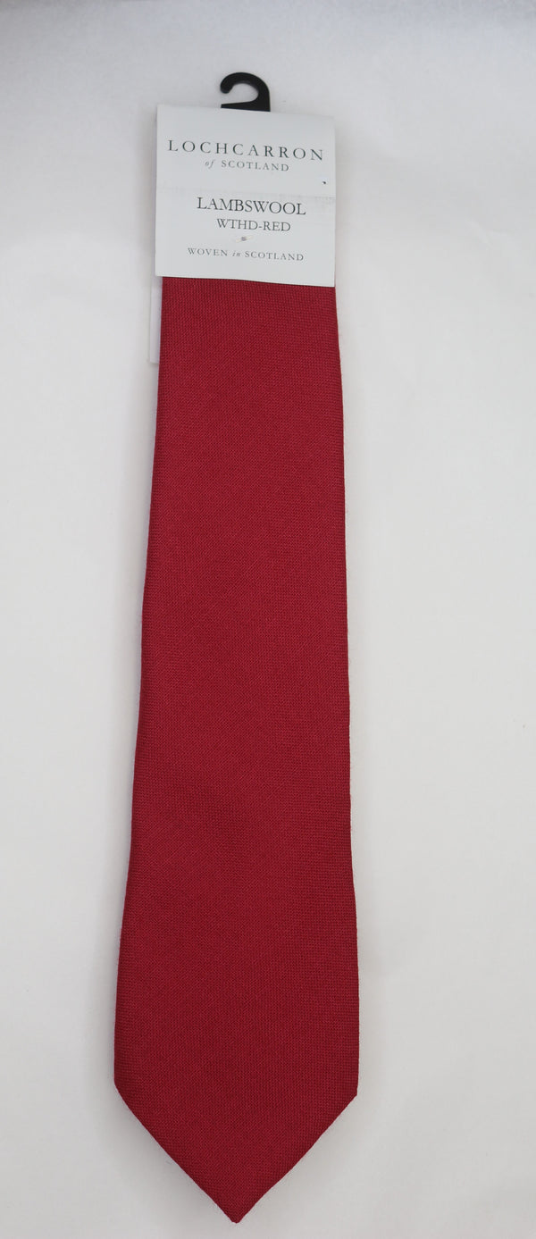 Mens Lochcarrron Woollen Tie - Weathered Red - Anderson Kilts