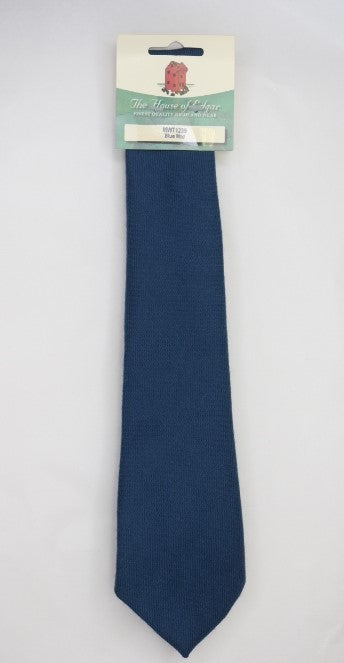 Mens House of Edgar Woollen Tie - Muted Blue - Anderson Kilts