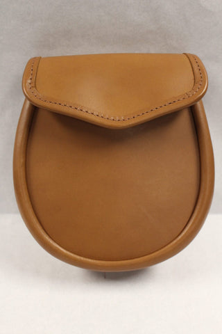 Norwood Plain Brown Leather Day Sporran HB TAN