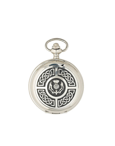 Celtic Thistle Mechanical Pocket Watch - PW103M