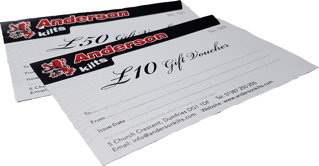 £10 Gift Voucher - Anderson Kilts
