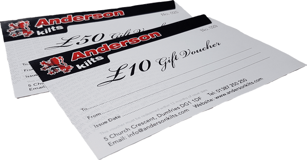 £50 Gift Voucher - Anderson Kilts