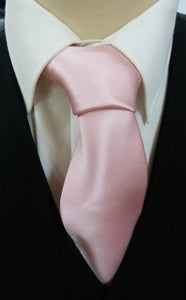 Mens Pink Satin Tie - Anderson Kilts