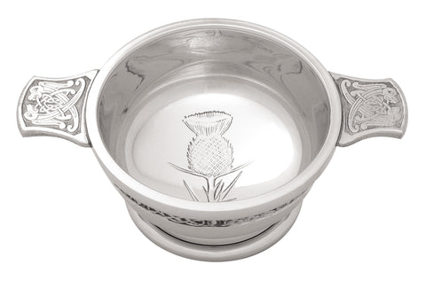 Quaich - Thistle celtic design