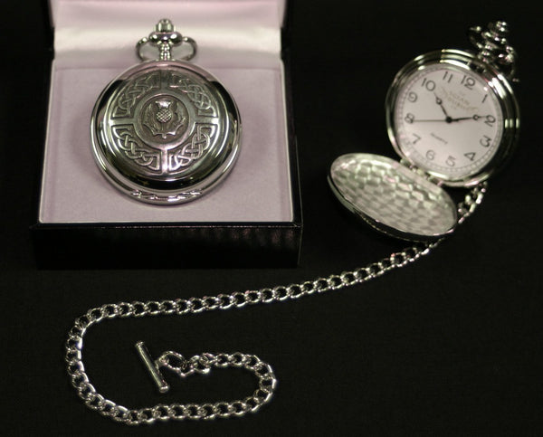 Celtic Thistle Quartz Pocket Watch - PW103Q - Anderson Kilts