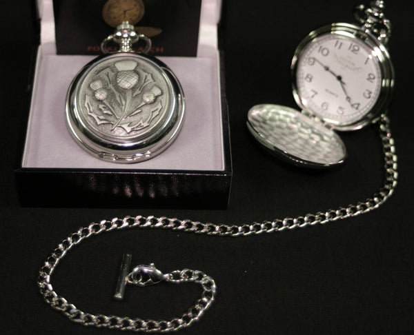 Thistle Quartz Pocket Watch - PW114Q - anderson-kilts