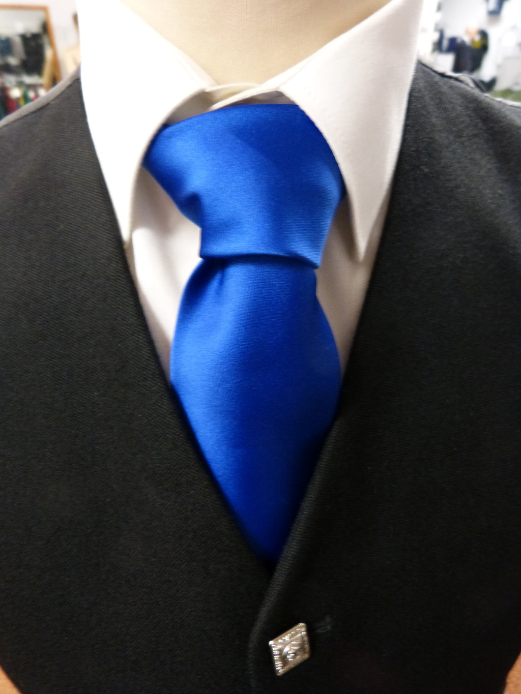 Royal Blue Satin Tie - Anderson Kilts