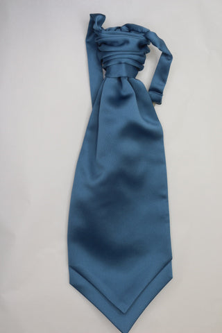 Airforce blue ruche cravat