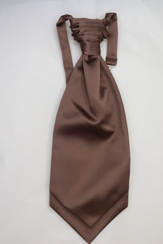 Mid brown Ruche Cravat