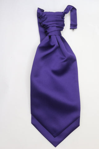 Purple Ruche Cravat