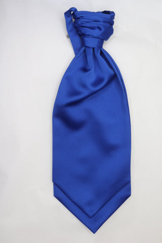 Royal blue Ruche Cravat