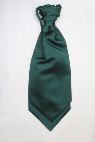 Bottle green ruche cravat