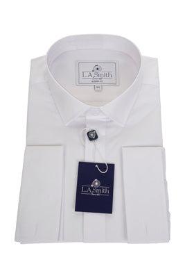 Mens White Standard Collar Shirt