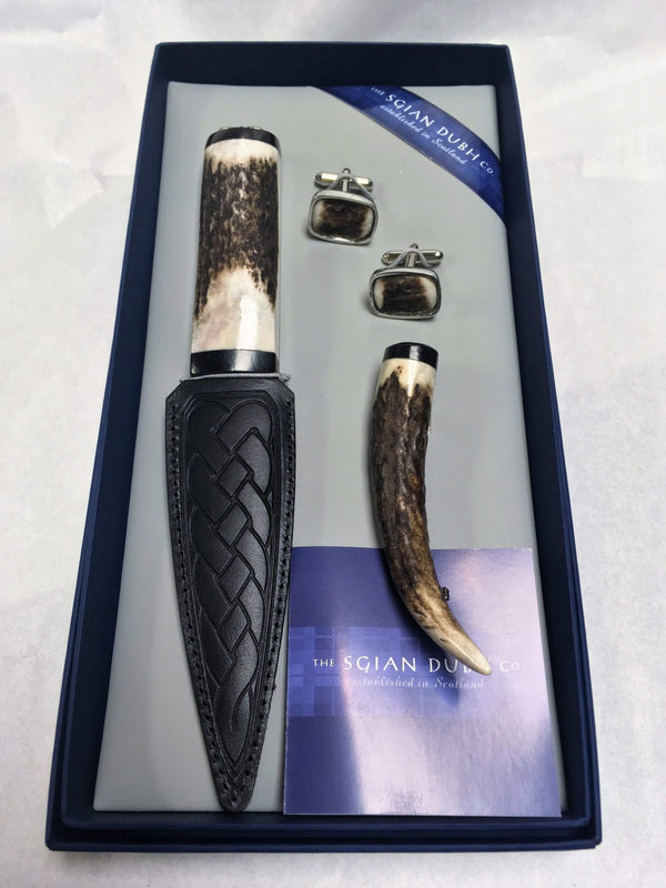 Staghorn Gift Set with Thistle Motif - SK90T - Anderson Kilts