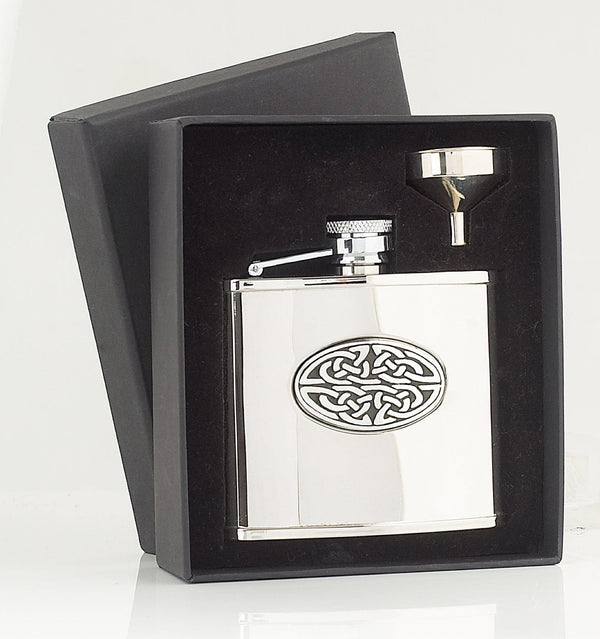 Small Celtic Sporran Flask - 4oz - anderson-kilts