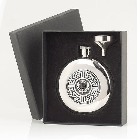 Celtic Thistle Sporran Flask Set - 4.5oz