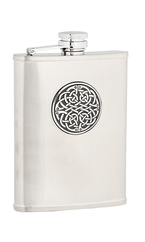 Antique Celtic Sporran Flask - 6oz