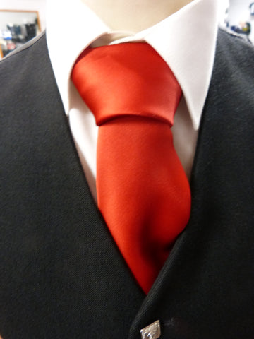 Scarlet Red Satin Tie