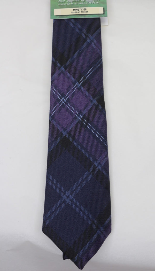 Scottish Thistle Tartan Tie - Anderson Kilts